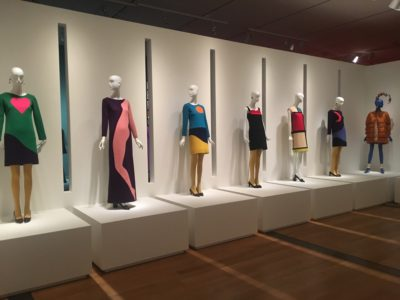 Yves Saint Laurent, the Perfection of Style exhibition display at the Virginia Museum of Fine Arts