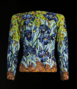 """Iris"" jacket from an evening ensemble, homage to Vincent van Gogh, spring-summer 1988 haute couture collection., © Sophie Carre"