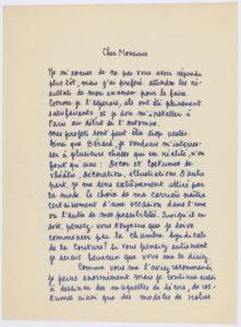 Lettres entre Yves Saint Laurent et Michel de Brunhoff., © Musée Yves Saint Laurent Paris