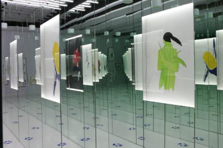 Robert Wilson, Les Fables de La Fontaine exhibition display at the Fondation Pierre Bergé - Yves Saint Laurent