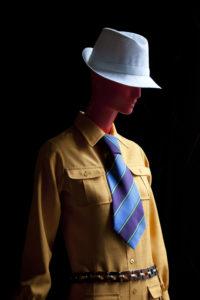 """Vue de l'exposition """"SAINT LAURENT rive gauche, la révolution de la mode"""" à la Fondation Pierre Bergé - Yves Saint Laurent, © Luc Castel"""
