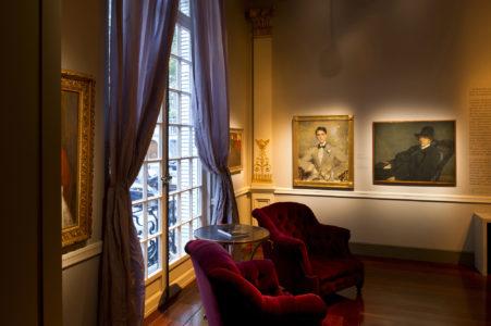 """Vue de l'exposition """"Jacques-Émile Blanche"""" à la Fondation Pierre Bergé - Yves Saint Laurent, © Luc Castel"""