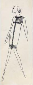 Croquis de recherche de la collection haute couture automne-hiver 1965, © Yves Saint Laurent