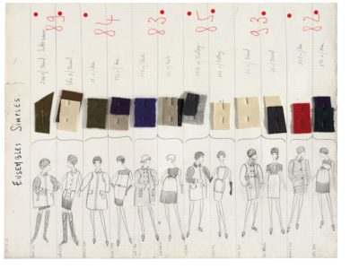 Planche de collection « Ensembles simples ». Collection haute couture automne-hiver 1965, © Yves Saint Laurent