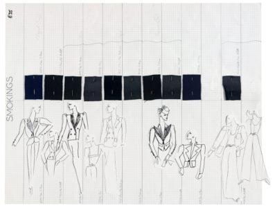 Planche de collection « Smokings ». Collection haute couture printemps-été 1995, © Yves Saint Laurent