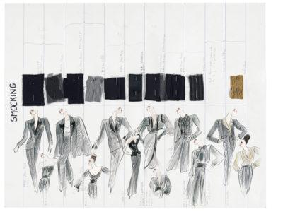 Planche de collection « Smocking ». Collection haute couture automne-hiver 1999, © Yves Saint Laurent