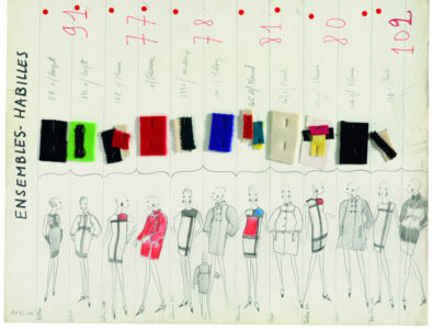 """Yves Saint Laurent Fall-Winter 1965 Haute Couture Collection board"""