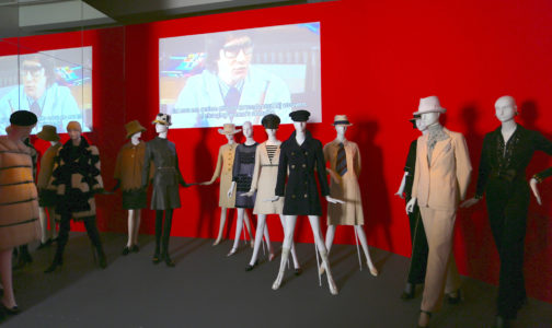Yves Saint Laurent, Visionnaire exhibition display at the ING Art Center in Brussels