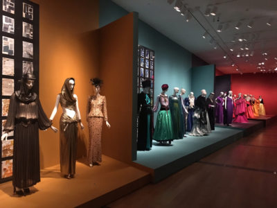 Yves Saint Laurent, the Perfection of Style exhibition display at the Seattle Art Museum