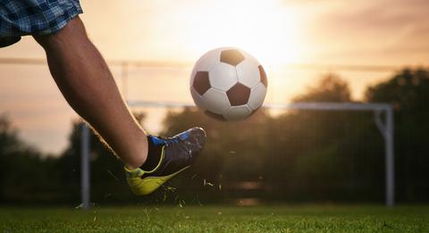 Md sommar sol fotboll