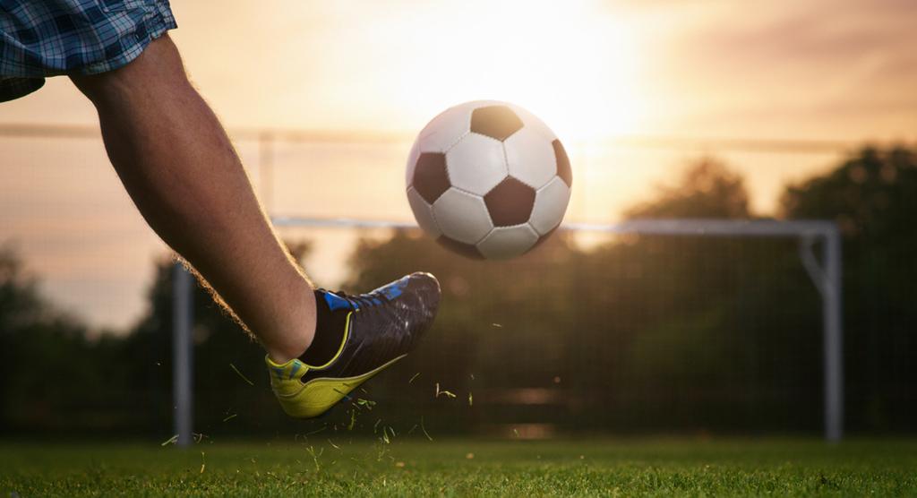Sommar sol fotboll