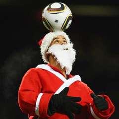 Sm square football santa