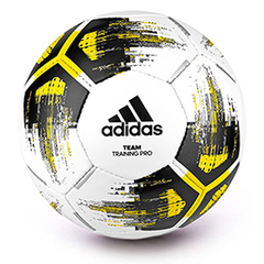 Sm square balon adidas team training pro white yellow black 0