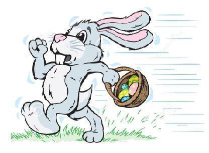 Running rabbit easter bunny big hurry 34808370 01