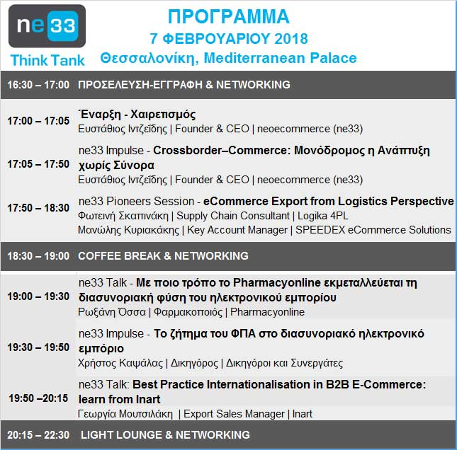 Program ne33 ThinkTank Thessaloniki 2018