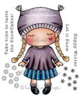 LA-LA LAND CRAFTS STAMPS 5231 - PAPER DOLL MARCI WINTER