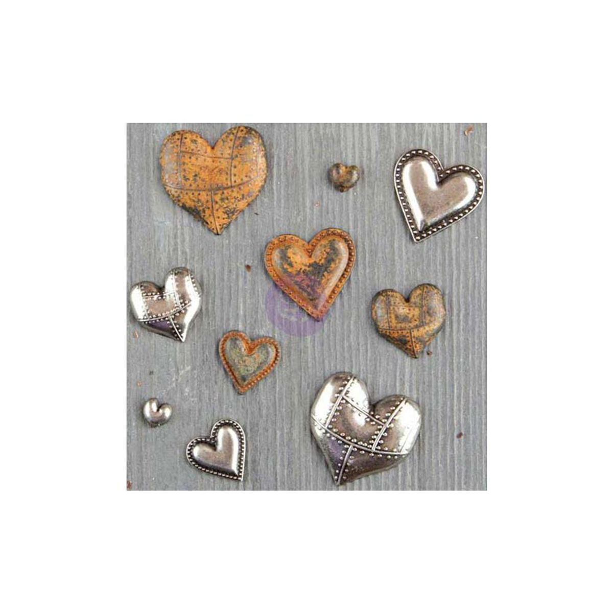 Mechanical Metal Tin Hearts