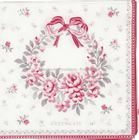 GreenGate papirserviett Flora white small