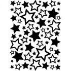 DARICE - EMBOSSINGFOLDER 1218-63 - STARS ASSORTED