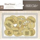 STUDIO CALICO - WOOD VENEER - 331715 - CIRCLES WITH WORDS