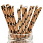QUEEN - LOLLIPOP STICKS 1484 - KRAFT BLACK & TAN POLKA DOTS
