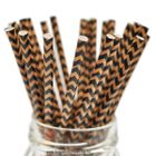 QUEEN - LOLLIPOP STICKS 1485 - KRAFT BLACK & TAN CHEVRON