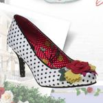 Joe Browns Couture Polkadot  Pumps Hvite Meryl Sko