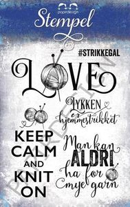 Bilde av Papirdesign - Stempel - PD16167 - Strikkegal