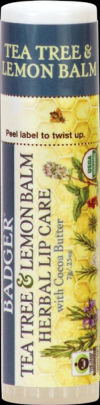 Badger Lip Balm Tea Tree & Lemon Balm