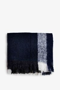 Bilde av New Works Check Throw Marine Blue Mohairpledd