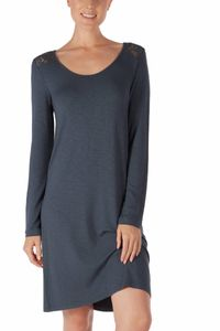 Bilde av Skiny Moonlight Sleepshirt, Str 36-44, Slate Blue
