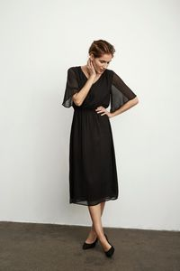 Bilde av Part Two - Flora Dress Black