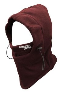 Bilde av Ansiktsmaske - Transformgloves The Villian Hooded Neckwarmer Red
