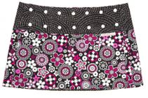 Pink Spiralgraphic Athletic Skirt