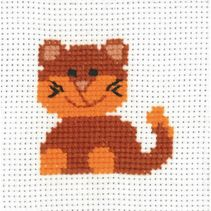 My first kit Katt Broderi for barn Permin