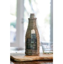 RUSTIC RATTAN BOTTLE WINDOW