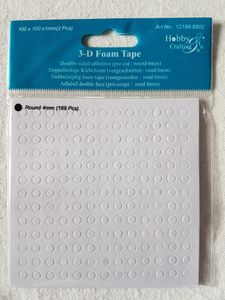 Bilde av Hobby & Crafting 3-d foam tape runde 4mm