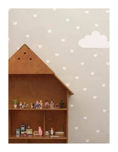 Bilde av Wallsticker Hearts White