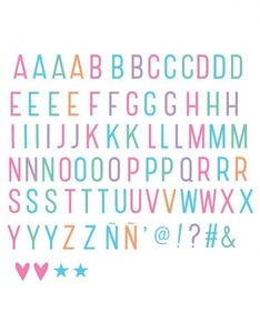 Bilde av A Little Lovely Company Lightbox Letter Set Pastell