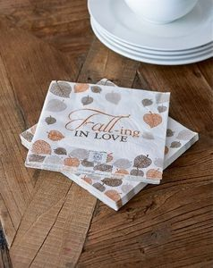 Bilde av Fall-ing in love paper napkin