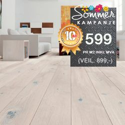 Parkett SAGA Eik Plank Natural Gentle