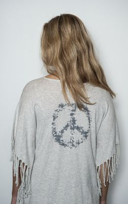 Senze of Joy Take It Frille pullover silver