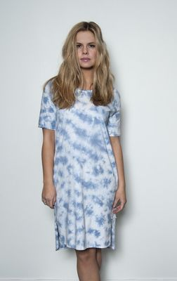 Senze of Joy Map dress blue