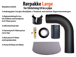 Bilde av Rørpakke Large Ø150mm (for tilslutning til leca pipe)