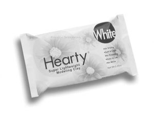 HEARTY - SUPER LIGHTWEIGHT AIR DRY CLAY - WHITE 5.25