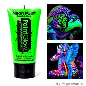 Bilde av Sminke: Neon Green Body Paint UV effektmaling -50ml PaintGlow
