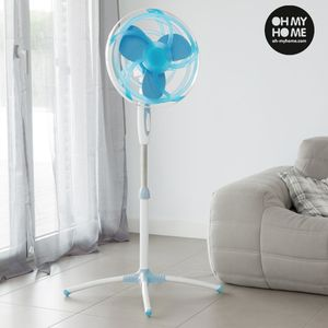 Bilde av Oh My Home 45W blue pedestal fan with EVA rubber