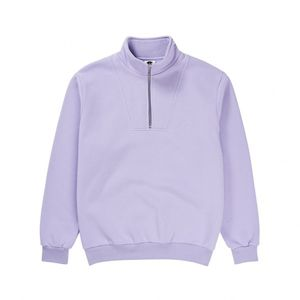 Bilde av Crew Neck - Polar Zip Neck Sweatshirt / Lavender