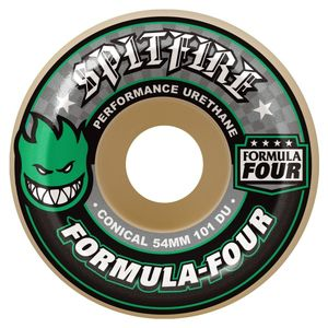 Bilde av Skateboard Hjul - Spitfire 52mm Conicals 101 Duro / Green