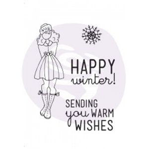 "Bilde av Julie Nutting - Cling Stamp - ""Warm Wishes"""